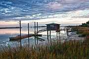 Low Country Framed Prints - Chisolm Island Docks Framed Print by Scott Hansen