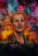 Time Lord Framed Prints - Chistopher Eccleston Doctor Who Framed Print by Barry Sachs