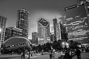 Chicago Skyline Bw Metal Prints - ChiTown Metal Print by Jonathan Schwartz