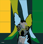 Diving Horse Prints - Chiwawa dog Print by Roby Marelly