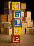 Alphabet Metal Prints - CHLOE - Alphabet Blocks Metal Print by Edward Fielding