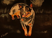 Heeler Paintings - Chloe by Sarah Hamilton