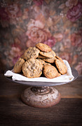 Cookies Framed Prints - Chocolate Chip Cookies Framed Print by Edward Fielding