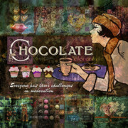 Texture Digital Art Prints - Chocolate Print by Evie Cook