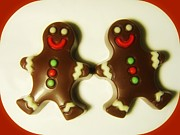 Candy Digital Art - Chocolate Ginger Bread Men Christmas by Holley Jacobs
