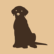 Black Lab Digital Art - Chocolate Labrador by Elizabeth Harshman