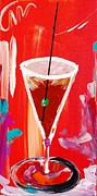 Martini Wall Art Paintings - Chocolate Martini by Mac Worthington