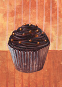 Black Diet Paintings - Chocolate Monster Cupcake by Marco Sivieri