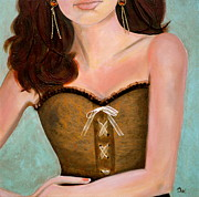 Strapless Prints - Chocolate Romance Print by Debi Pople