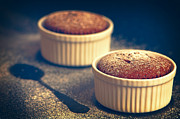 Icing Sugar Photos - Chocolate Souffles by Christopher and Amanda Elwell