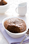 Outdoor Dining Prints - Chocolate Sponge Pudding Print by Christopher and Amanda Elwell