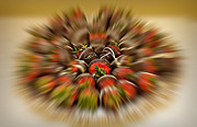 Food And Beverages Prints - Chocolate Strawberry Rush Print by Susan Candelario
