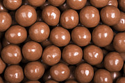 Balls Posters - Chocolate sweet background Poster by Jane Rix