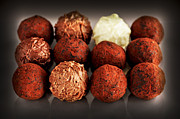 Swiss Photo Prints - Chocolate truffles Print by Elena Elisseeva