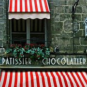 Entrance Shop Front Prints - Chocolatier Print by Georgia Fowler