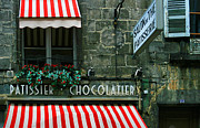 Entrance Shop Front Posters - Chocolatier in Clermont Ferrand France  Poster by Georgia Fowler