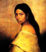 Native American Woman Prints - Choctaw Belle Print by Phillip Romer