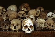 Immoral Framed Prints - Choeung Ek Killing Field Skulls Framed Print by Kevin Miller