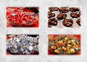 Milk Mixed Media Prints - Choice Of Chocolate 4 x 4 Collage 2 - Sweets - Candy Shoppe Print by Andee Photography
