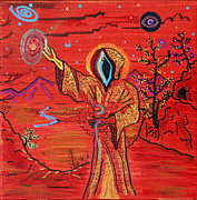 Hooded Figure Prints - Choices Print by Randy Sauceda