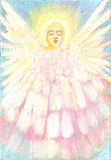 Seraphim Angel Painting Framed Prints - Choiring Angel Framed Print by Anne Cameron Cutri