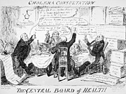 Cruikshank Art - Cholera Epidemic, 1832 by Granger
