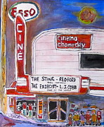 1950 Movies Paintings - Chomedey Cinema by Michael Litvack