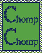 Modern Nursery Prints - Chomp Chomp Print by Jaime Friedman
