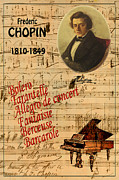 Chopin Prints - Chopin Print by Andrew Fare