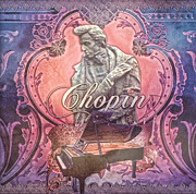 Music Legend Mixed Media Framed Prints - Chopin Framed Print by Mo T