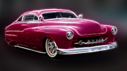 Ford Lowrider Prints - Chopped 50 Merc Print by Steve McKinzie