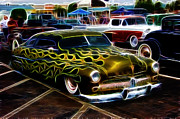 Ford Sedan Framed Prints - Chopped And Flamed Framed Print by Steve McKinzie
