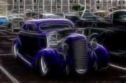 1935 Ford Coupe Posters - Chopped Ford Coupe  Poster by Steve McKinzie