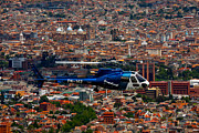 Crime Fighting Prints - Chopper Over Cuenca Print by Paul Wolf