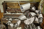 Robot Metal Prints - Chopsticks Metal Print by Mark Zelmer