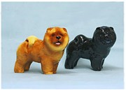 Figurine Sculpture Framed Prints - Chow Chow High Res. Framed Print by Ron Hevener