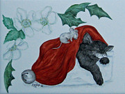 Sandra Maddox - Chridtmas Cat and Mouse