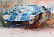Ford Watercolor Framed Prints - Chris Amon Framed Print by Robert Hooper
