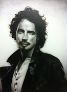Surrealism Painting Prints - Chris Cornell Print by Christian Chapman Art