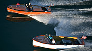Mahogany Prints - Chris-Craft Aerial Print by Steven Lapkin
