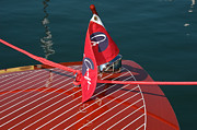 Chris Craft Prints - Chris-Craft Flag Print by Steven Lapkin