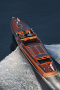 Chris Craft Prints - Chris Craft Runabout Print by Steven Lapkin