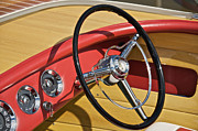 Chris Craft Photos - Chris Craft Wheel by Steven Lapkin