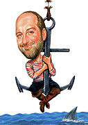 Caricature Paintings - Chris Elliott by Art