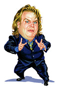 Saturday Night Live Paintings - Chris Farley by Art