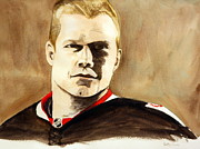 Nhl Prints - Chris Neil Print by Betty-Anne McDonald