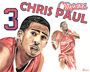 Nba Drawings Framed Prints - Chris Paul Framed Print by Israel Torres