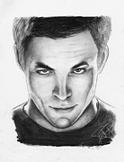 Star Drawings Posters - Chris Pine Poster by Rosalinda Markle