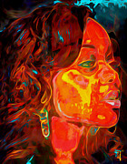 Print Digital Art Originals - Chrisette Michele by Byron Fli Walker