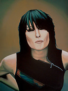 Realistic Prints - Chrissie Hynde Print by Paul  Meijering